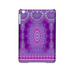 India Ornaments Mandala Pillar Blue Violet Ipad Mini 2 Hardshell Cases by EDDArt