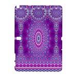 India Ornaments Mandala Pillar Blue Violet Samsung Galaxy Note 10.1 (P600) Hardshell Case