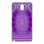 India Ornaments Mandala Pillar Blue Violet Samsung Galaxy Note 3 N9005 Hardshell Back Case