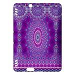 India Ornaments Mandala Pillar Blue Violet Kindle Fire HDX Hardshell Case