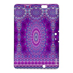 India Ornaments Mandala Pillar Blue Violet Kindle Fire Hdx 8 9  Hardshell Case by EDDArt