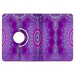 India Ornaments Mandala Pillar Blue Violet Kindle Fire HDX Flip 360 Case