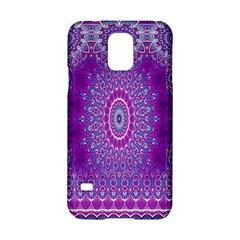 India Ornaments Mandala Pillar Blue Violet Samsung Galaxy S5 Hardshell Case  by EDDArt