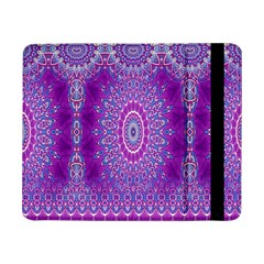 India Ornaments Mandala Pillar Blue Violet Samsung Galaxy Tab Pro 8 4  Flip Case by EDDArt
