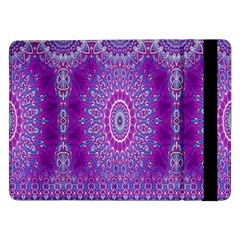 India Ornaments Mandala Pillar Blue Violet Samsung Galaxy Tab Pro 12 2  Flip Case by EDDArt