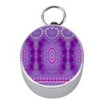 India Ornaments Mandala Pillar Blue Violet Mini Silver Compasses