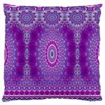 India Ornaments Mandala Pillar Blue Violet Standard Flano Cushion Case (One Side)