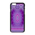 India Ornaments Mandala Pillar Blue Violet Apple iPhone 6/6S Black Enamel Case