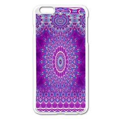 India Ornaments Mandala Pillar Blue Violet Apple Iphone 6 Plus/6s Plus Enamel White Case by EDDArt