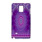 India Ornaments Mandala Pillar Blue Violet Samsung Galaxy Note 4 Hardshell Case