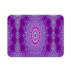 India Ornaments Mandala Pillar Blue Violet Double Sided Flano Blanket (mini)  by EDDArt
