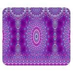 India Ornaments Mandala Pillar Blue Violet Double Sided Flano Blanket (Small)