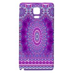 India Ornaments Mandala Pillar Blue Violet Galaxy Note 4 Back Case