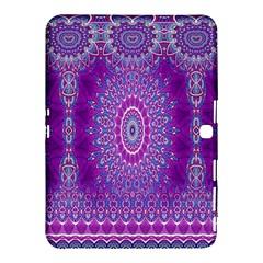 India Ornaments Mandala Pillar Blue Violet Samsung Galaxy Tab 4 (10 1 ) Hardshell Case  by EDDArt