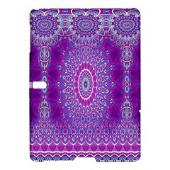 India Ornaments Mandala Pillar Blue Violet Samsung Galaxy Tab S (10 5 ) Hardshell Case  by EDDArt
