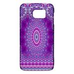 India Ornaments Mandala Pillar Blue Violet Galaxy S6