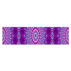 India Ornaments Mandala Pillar Blue Violet Satin Scarf (oblong) by EDDArt