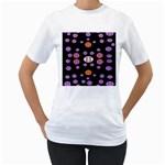 Alphabet Shirtjhjervbret (2)fvgbgnhlluuii Women s T-Shirt (White) (Two Sided)
