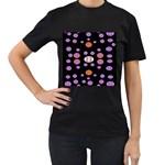Alphabet Shirtjhjervbret (2)fvgbgnhlluuii Women s T-Shirt (Black)