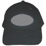 Sports Racing Chess Squares Black White Black Cap