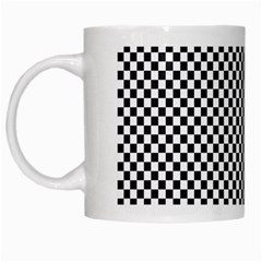 Sports Racing Chess Squares Black White White Mugs by EDDArt