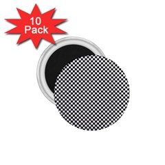 Sports Racing Chess Squares Black White 1 75  Magnets (10 Pack)  by EDDArt