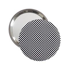 Sports Racing Chess Squares Black White 2 25  Handbag Mirrors by EDDArt