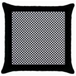 Sports Racing Chess Squares Black White Throw Pillow Case (Black)