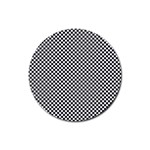 Sports Racing Chess Squares Black White Rubber Coaster (Round)