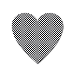 Sports Racing Chess Squares Black White Heart Magnet by EDDArt