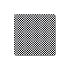 Sports Racing Chess Squares Black White Square Magnet by EDDArt