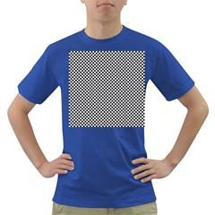 Sports Racing Chess Squares Black White Dark T Shirt by EDDArt