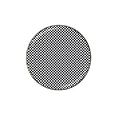 Sports Racing Chess Squares Black White Hat Clip Ball Marker (4 Pack) by EDDArt