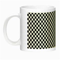 Sports Racing Chess Squares Black White Night Luminous Mugs by EDDArt