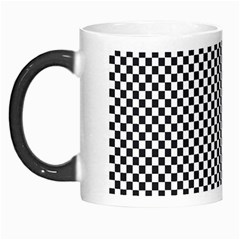 Sports Racing Chess Squares Black White Morph Mugs by EDDArt