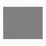 Sports Racing Chess Squares Black White Small Glasses Cloth