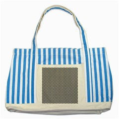 Sports Racing Chess Squares Black White Striped Blue Tote Bag by EDDArt
