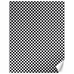 Sports Racing Chess Squares Black White Canvas 12  x 16