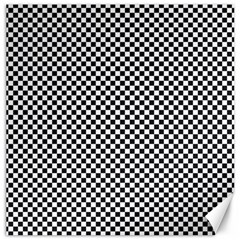 Sports Racing Chess Squares Black White Canvas 20  X 20   by EDDArt