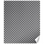 Sports Racing Chess Squares Black White Canvas 20  x 24