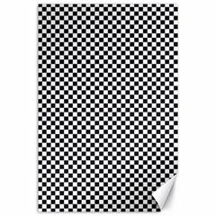 Sports Racing Chess Squares Black White Canvas 24  X 36  by EDDArt