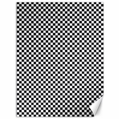 Sports Racing Chess Squares Black White Canvas 36  X 48   by EDDArt
