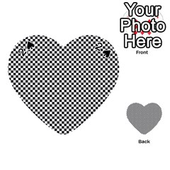 Sports Racing Chess Squares Black White Playing Cards 54 (heart)  by EDDArt