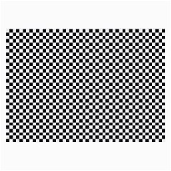 Sports Racing Chess Squares Black White Large Glasses Cloth by EDDArt