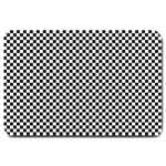 Sports Racing Chess Squares Black White Large Doormat