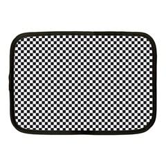 Sports Racing Chess Squares Black White Netbook Case (medium)  by EDDArt