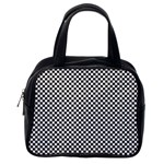 Sports Racing Chess Squares Black White Classic Handbags (One Side)