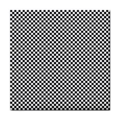 Sports Racing Chess Squares Black White Face Towel by EDDArt