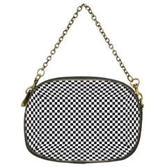 Sports Racing Chess Squares Black White Chain Purses (two Sides)  by EDDArt