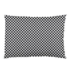 Sports Racing Chess Squares Black White Pillow Case by EDDArt